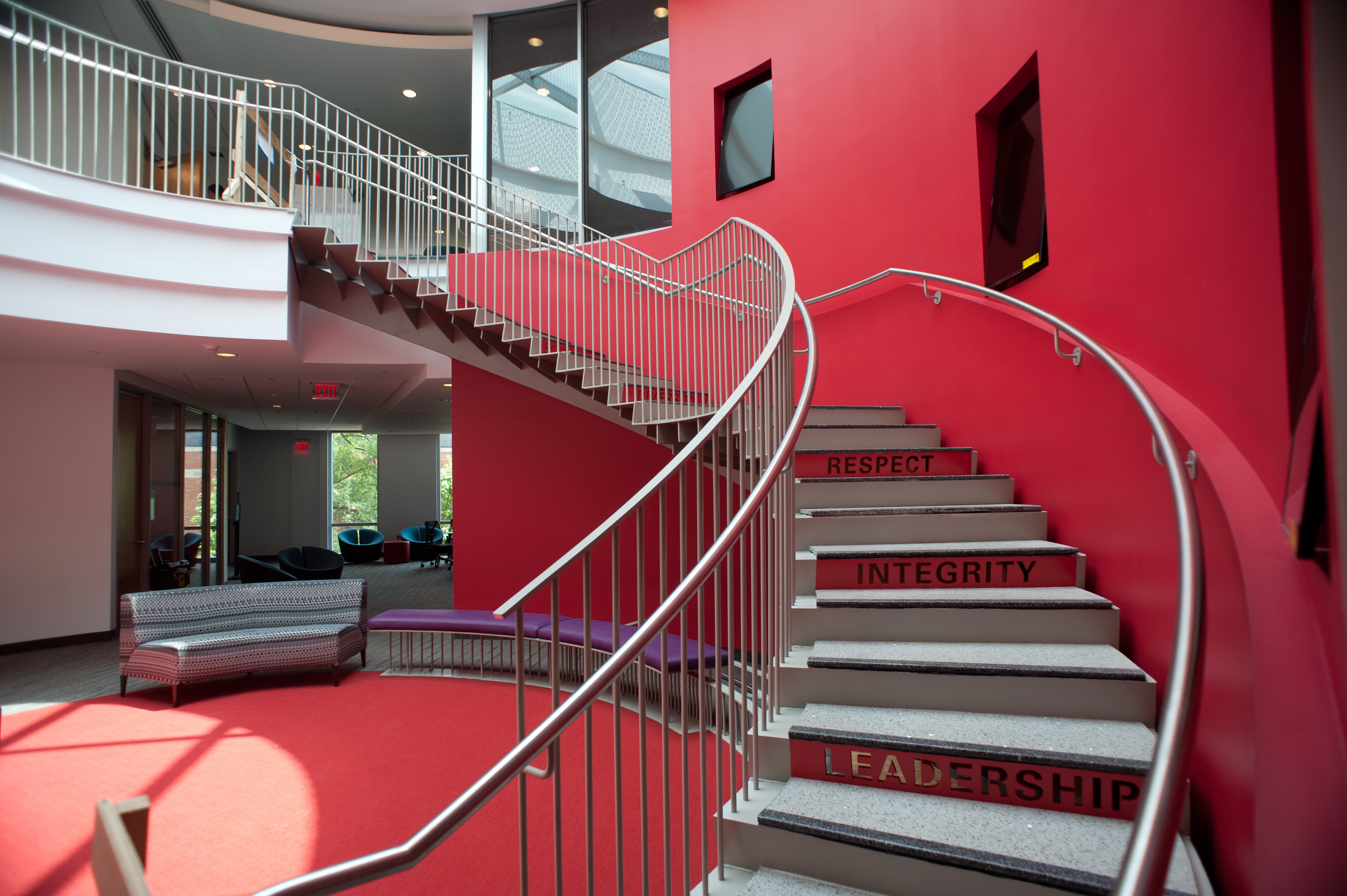 The second phase of the Talley Student Center renovation offers large, bright gathering spaces.